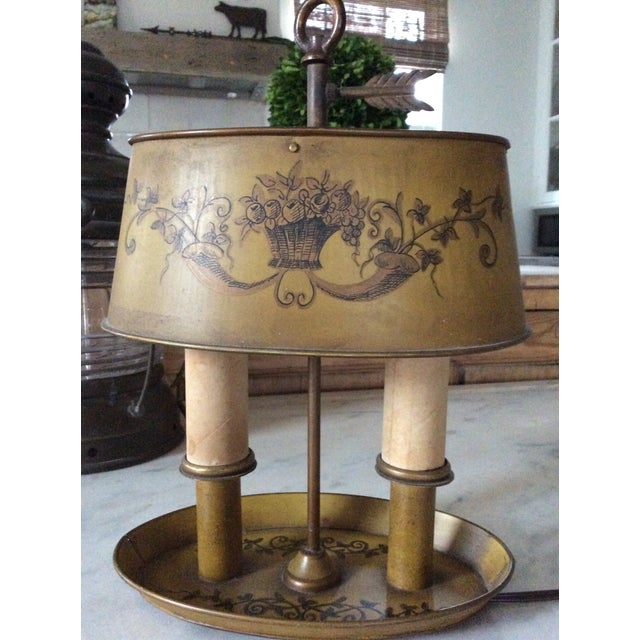 1940s Vintage French Tole Bouillotte Desk Lamp For Sale - Image 10 of 12