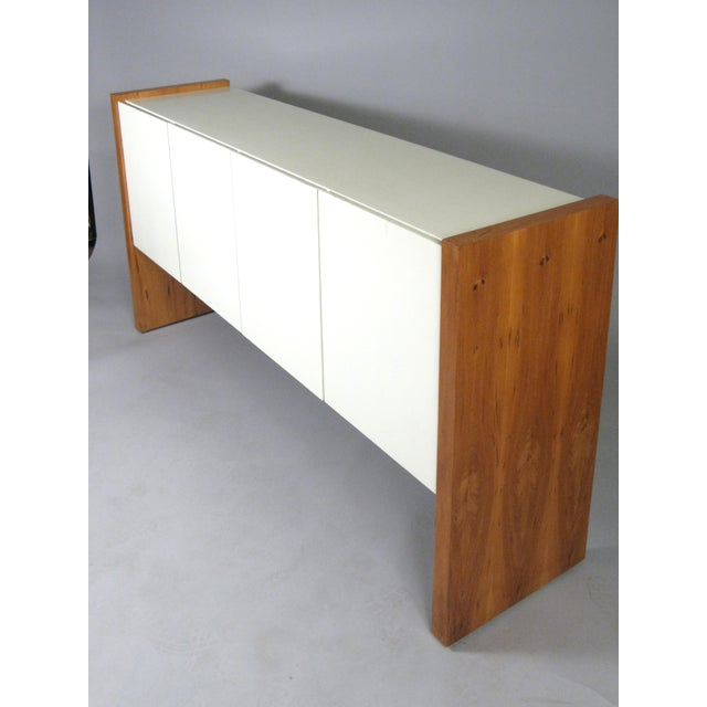 Vintage Milo Baughman for Thayer Coggin Walnut & Lacquered Cabinet For Sale - Image 9 of 10