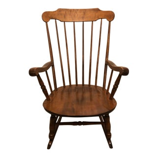 Early 20th Century Vintage S. Bent and Bros Rocking Chair For Sale
