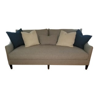 Taylor King Charlotte Sofa in Gray For Sale