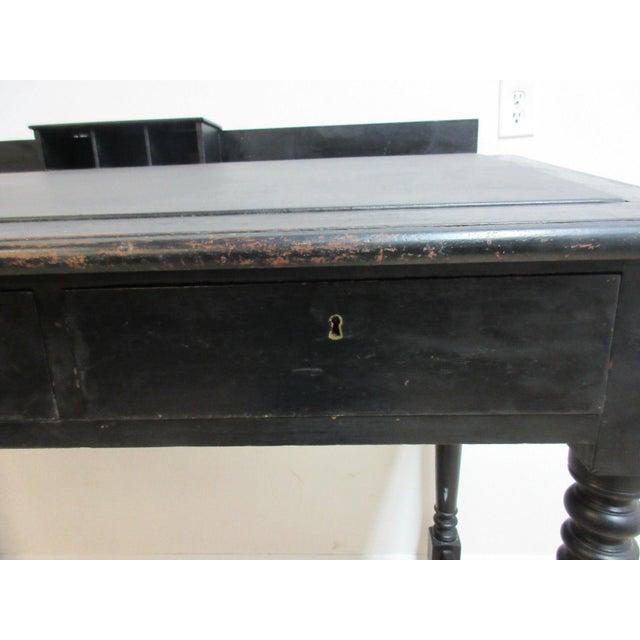 Antique Masonic Freemason Victorian Primitive Slant Top Plantation Writing Desk - Image 3 of 7