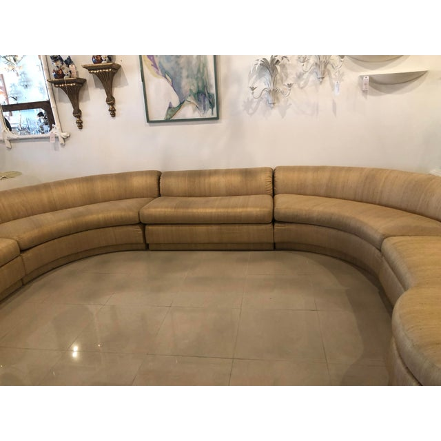 Vintage Mid Century Modern curved 5 piece sectional sofa in the style of Milo Baughman. This incredible 1970s sofa can be...