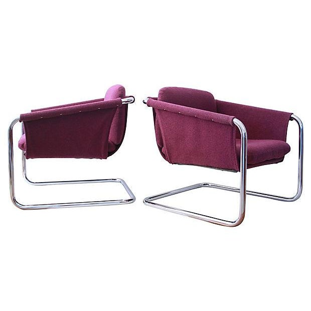 1980s Postmodern Cantilevered Chairs - A Pair - Image 7 of 10