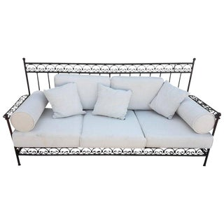 Moroccan Handmade Wrought Iron Bench