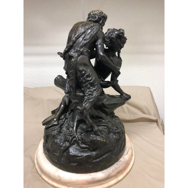 Bronze Late 19th Century Antique Clodion French Figural Bronze Sculpture For Sale - Image 7 of 11