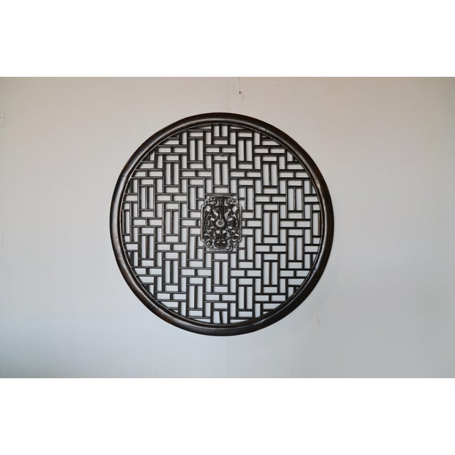1990s Geometric Chinese Wall Panel For Sale - Image 5 of 5