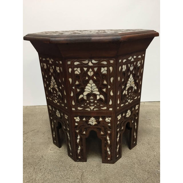 Syrian Mother-Of-Pearl Inlaid Side Table For Sale In Los Angeles - Image 6 of 13