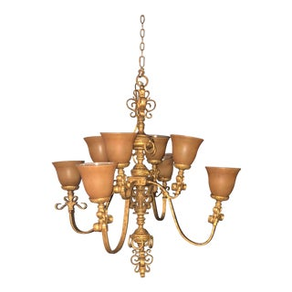 John Richards French Provincial Four Arm Chandelier For Sale