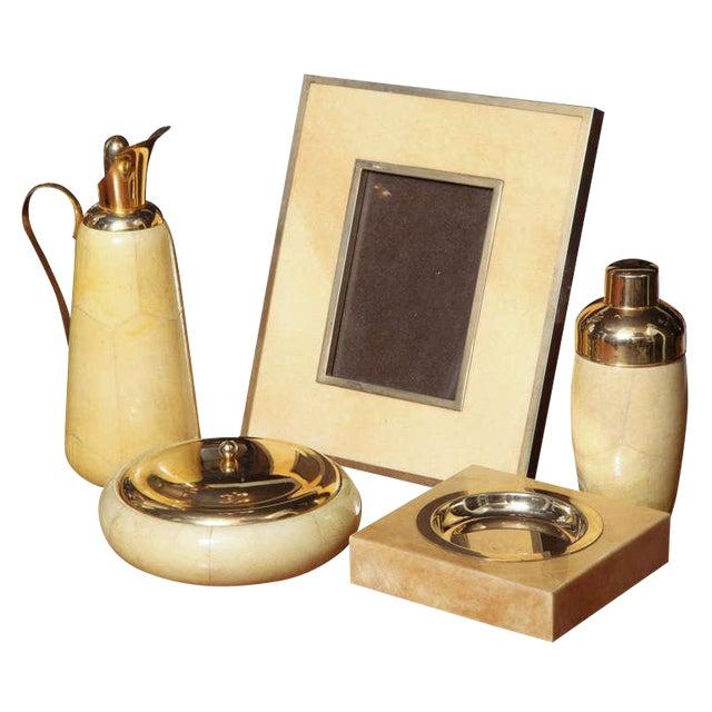 Aldo Tura Set of Goatskin Decorative Pieces (5 Items) - Image 1 of 10