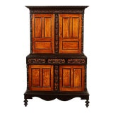Image of 19th Century British Colonial Satin Wood and Ebony Cabinet For Sale