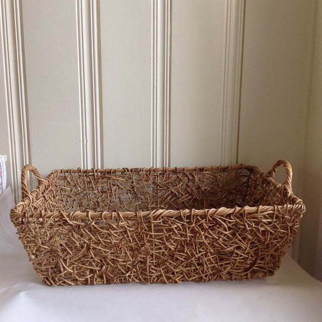 Natural Woven Twig Basket - Image 3 of 8