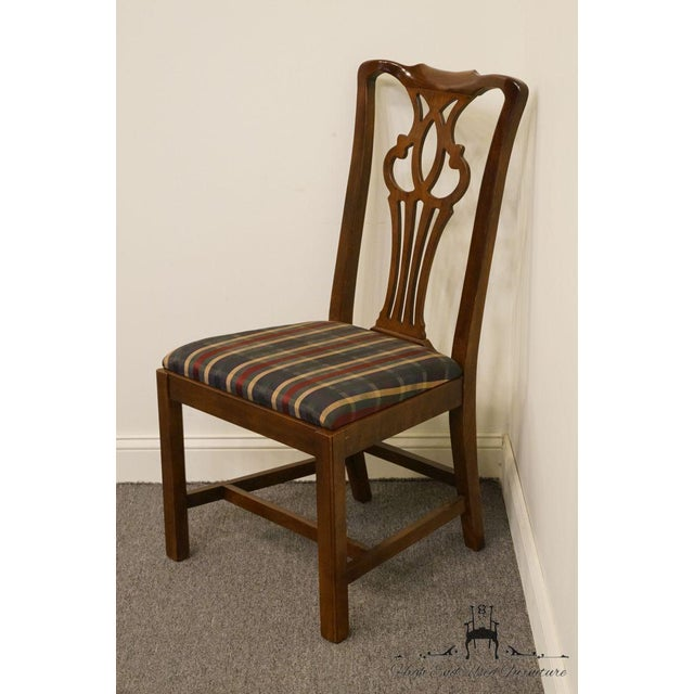 Traditional Late 20th Century Drexel Heritage Chippendale Style Dining Chair For Sale - Image 3 of 12