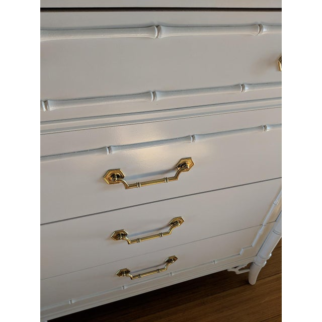 Thomasville 1950s Hollywood Regency Thomasville Allegro Faux Bamboo Dresser For Sale - Image 4 of 9