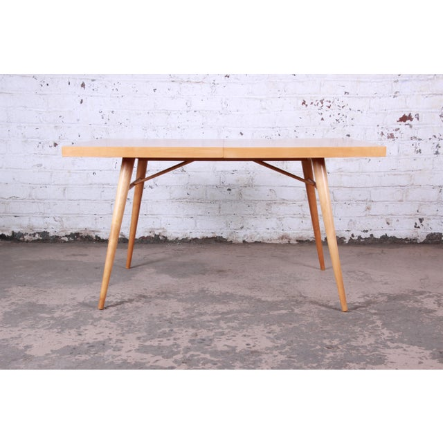 1950s Paul McCobb Planner Group Maple Extension Dining Table For Sale - Image 9 of 13