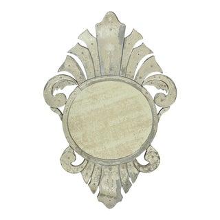 20th Century Venetian Glass Shield-Form Mirror For Sale