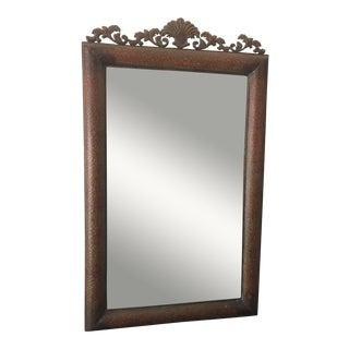 Copper Metal Wall Mirror