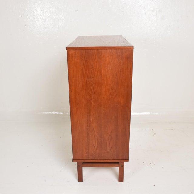 Midcentury Danish Modern Teak Dresser Tall Highboy by Nils Jonsson For Sale - Image 11 of 12