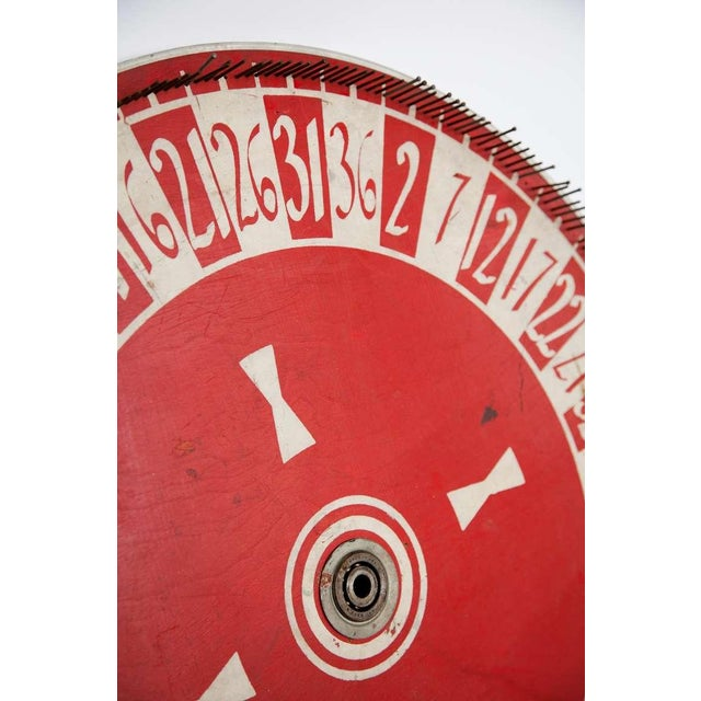 Carnival Vintage Hand Painted Game Wheel For Sale - Image 3 of 3