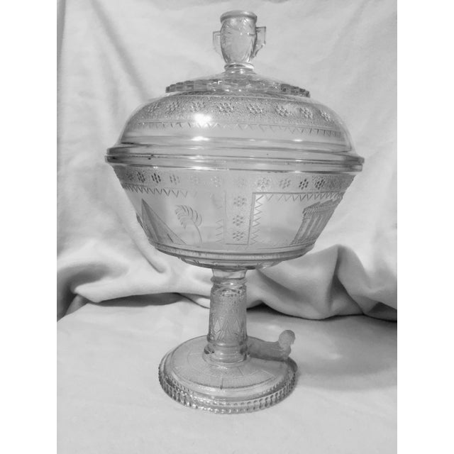 Adams Glass Egyptian Compote - Image 2 of 9