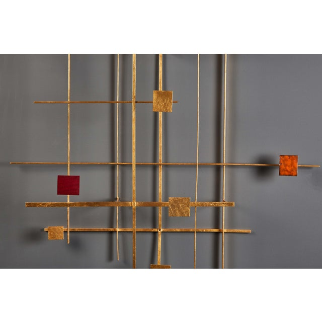 Enamel and Gold Leaf Sculpture by Robert Hogue For Sale In Los Angeles - Image 6 of 8