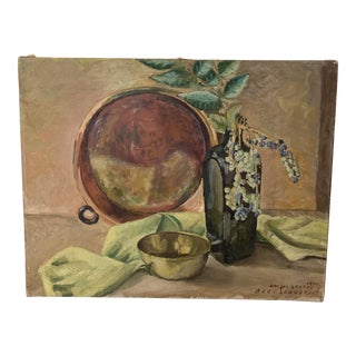 "1948 ""Oregon Grapes"" Still Life Painting by Bert Lobberegt For Sale"