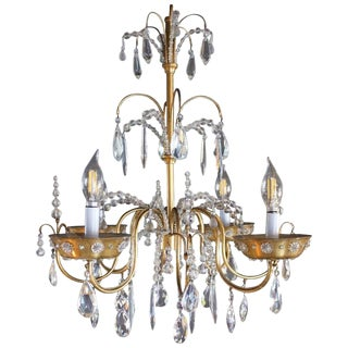 Early 20th Century Antique French Maison Jansen Art Deco Chandelier For Sale