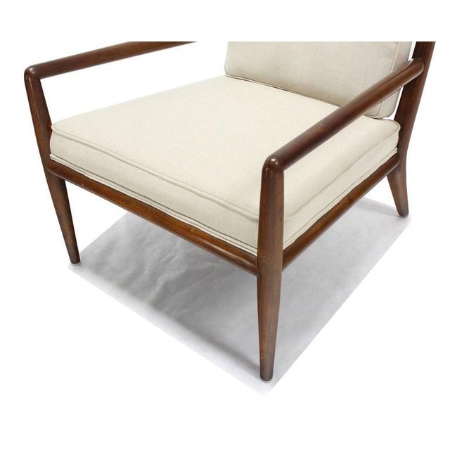 T.H. Robsjohn-Gibbings Newly Upholstered Gibbings Lounge Arm Chair For Sale - Image 4 of 8
