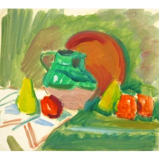 Madeleine Scali, Vintage French Still Life Painting For Sale
