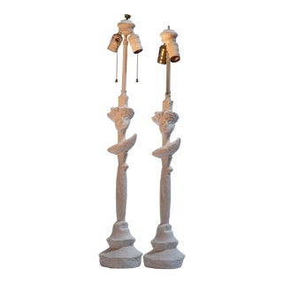 Masque Lamps by Giocometti Bros. - a Pair For Sale