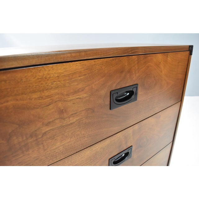 Black Mid- Century Campaign Style Chests by Drexel - a Pair For Sale - Image 8 of 13
