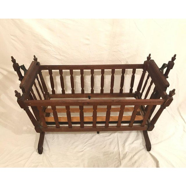 1920s Traditional Swing Crib For Sale - Image 4 of 5