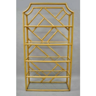 Vintage Mid CenturyTiki Hollywood Regency Bamboo Rattan Etagere- a Pair Preview