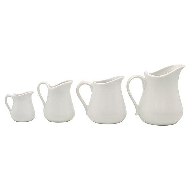 Vintage French Porcelain Graduating Pitchers - Set of 4 For Sale - Image 4 of 4