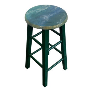 Modern Resin Cloudscape Barstool For Sale