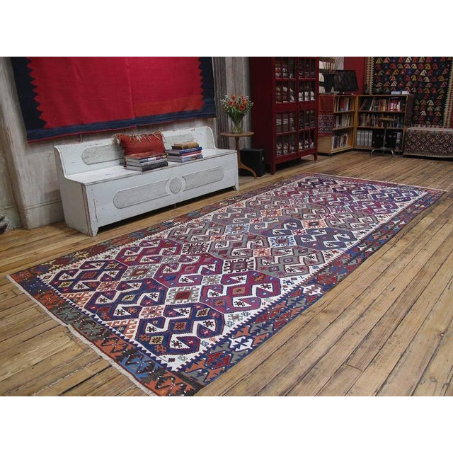 An impressive example of Anatolian Kilim tradition from Central Turkey. Powerful design with great use of...