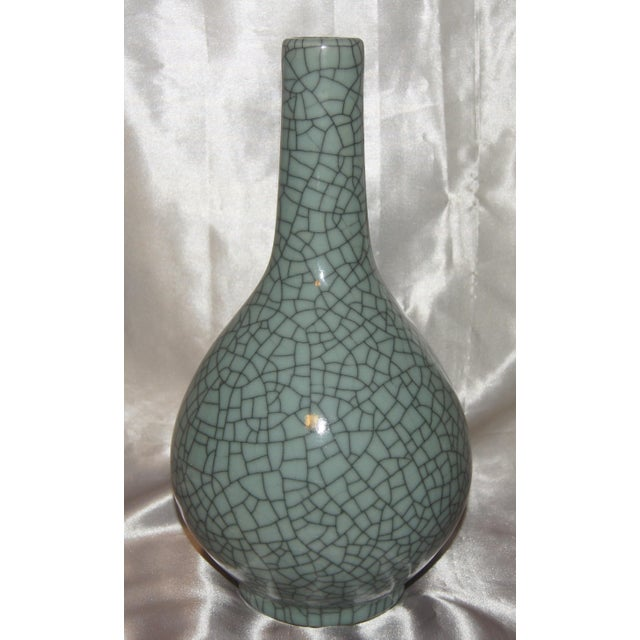 Chinese Crackle Celadon Vases - Set of 3 For Sale - Image 4 of 7