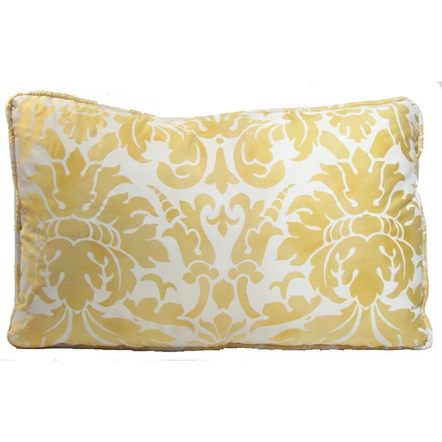 Italian Fortuny-Style Down Pillows - A Pair - Image 3 of 3