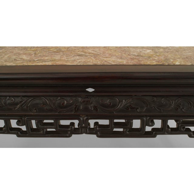 Asian Chinese Style Rosewood Rectangular Center Table For Sale - Image 4 of 5