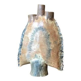 Abstract Brutalist Studio Pottery Vessel