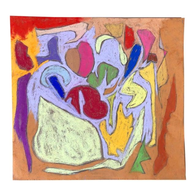 Abstraction No. 104 Original Pastel by Erik Sulander 11x12 For Sale