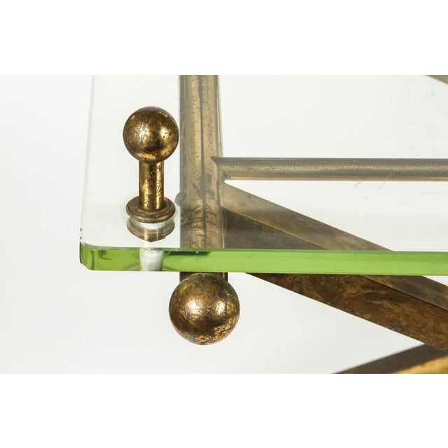 Brass & Glass Tray Coffee Table - Image 6 of 8
