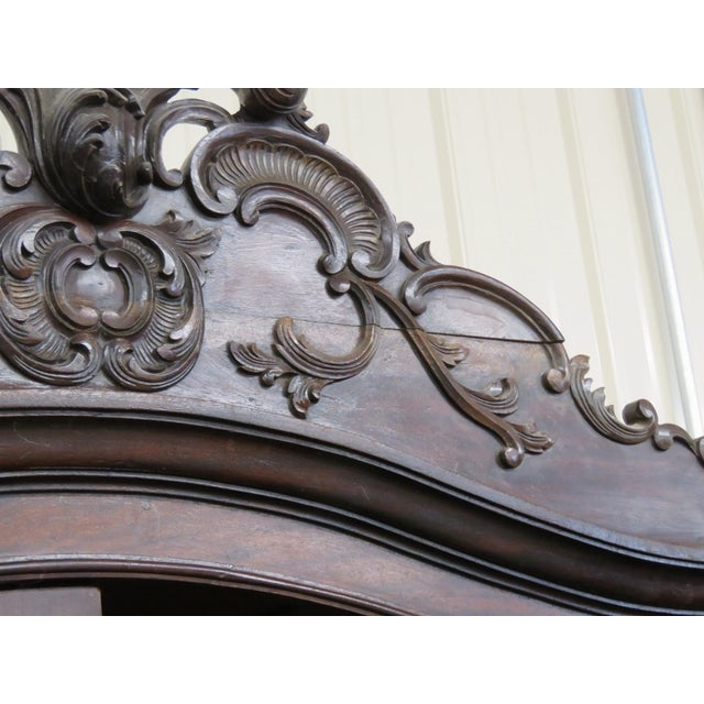 Portugese Carved 2-Door Armoire - Image 10 of 10