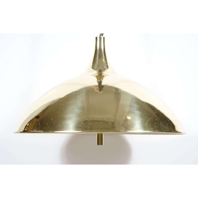 Gold Finlandia Brass Counter-Weight Pendant after Paavo Tynell for Litecraft Mfg Corp For Sale - Image 8 of 9