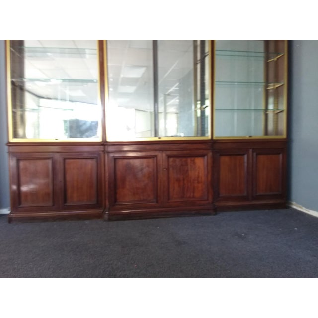 Antique Rosewood Shop Display Case With Miiror and Glass For Sale - Image 9 of 11