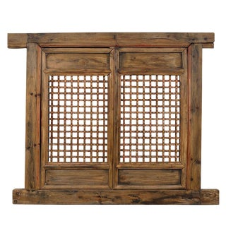 Antique Chinese Framed Window Panel For Sale