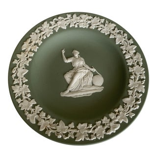 "20th Century Wedgwood Jasperware Green Dish - 4.5"" For Sale"