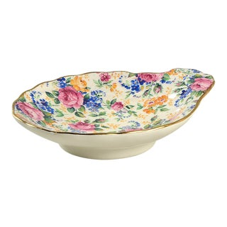 James Kent Rosalynde Chintz Shell Shaped Dish For Sale