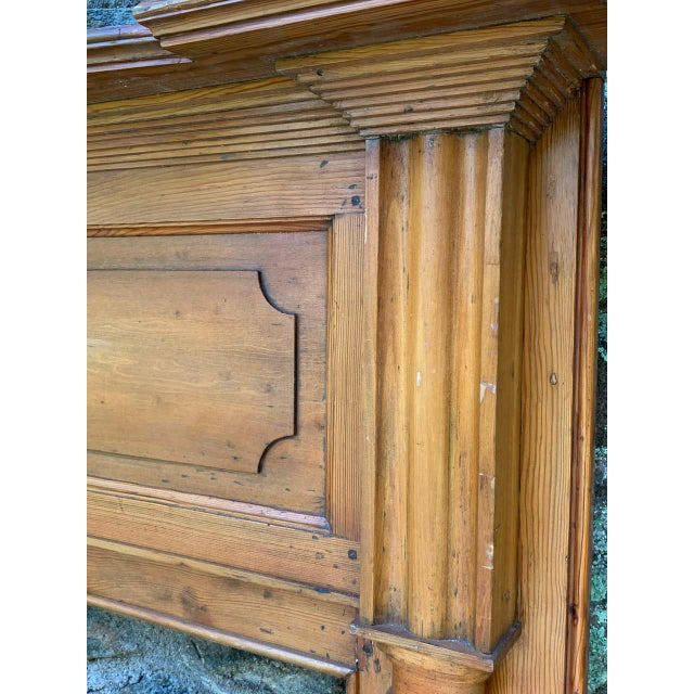Early 19th Century Pine Fireplace Mantel For Sale - Image 10 of 13