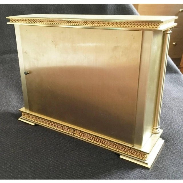 Mid-Century Modern Brass Mantel Clock from Atlanta, 1979 For Sale - Image 3 of 6