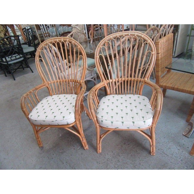 Island Style Rattan Chairs - A Pair - Image 7 of 7
